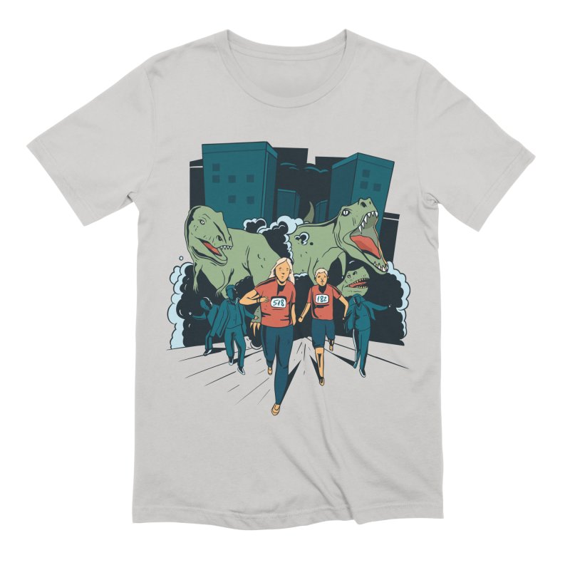 Dinosaur Marathon Men's T-Shirt by Toxic Onion - A Popular Ventures Company
