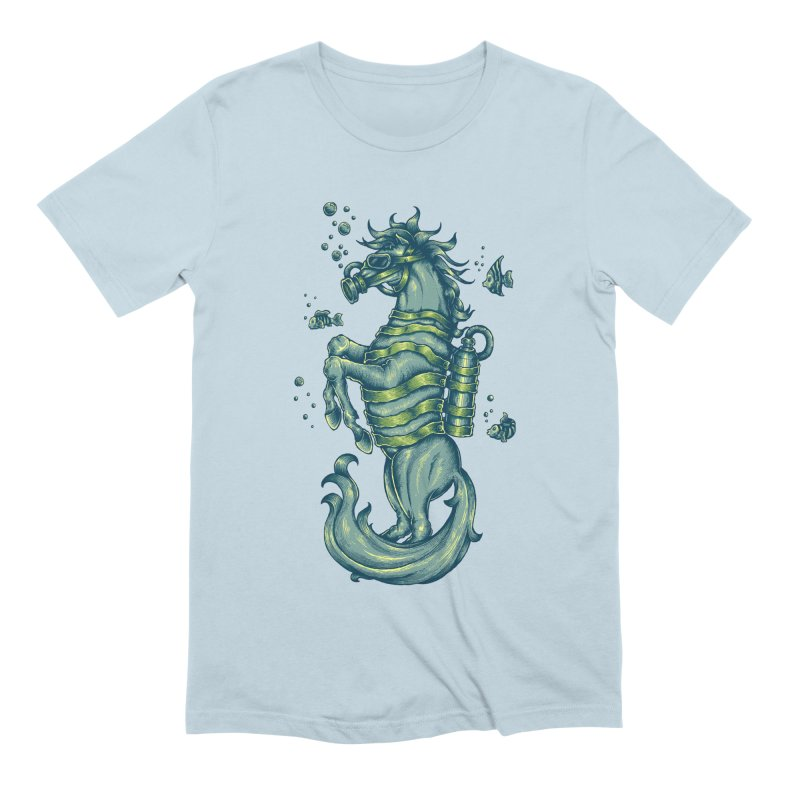 Seahorse Men's T-Shirt by Toxic Onion