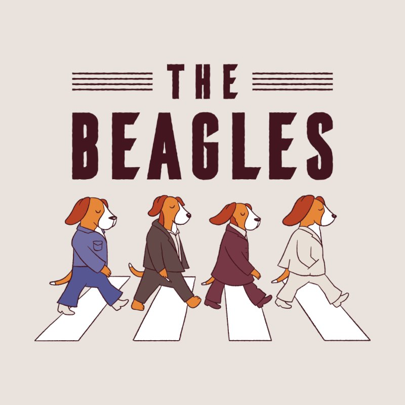 The Beagles Men's T-Shirt by Toxic Onion