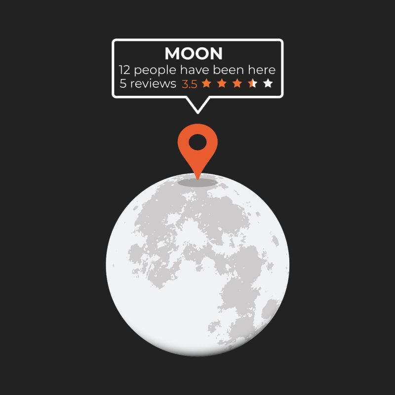 Moon Location Men's T-Shirt by Toxic Onion