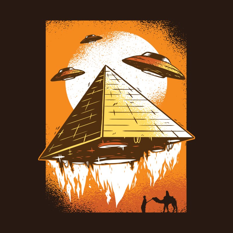Pyramid Launch Men's T-Shirt by Toxic Onion