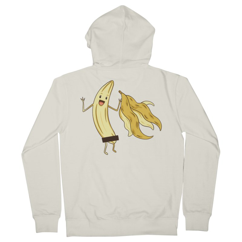 Naked Banana Men's Zip-Up Hoody by Toxic Onion - A Popular Ventures Company