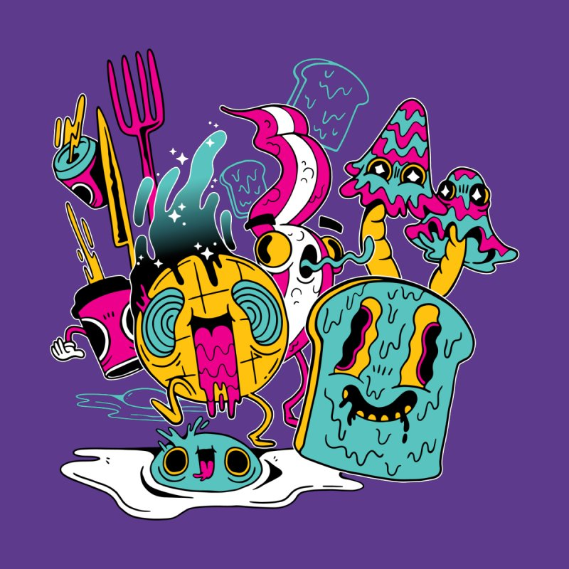 Psychedelic Breakfast Men's T-Shirt by Toxic Onion