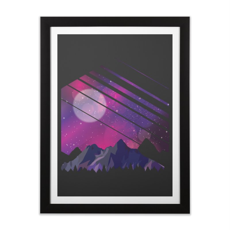 Mountain Galaxy Home Framed Fine Art Print by Toxic Onion