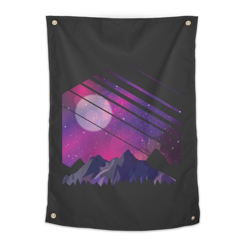 Mountain Galaxy Home Tapestry by Toxic Onion