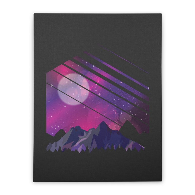 Mountain Galaxy Home Stretched Canvas by Toxic Onion