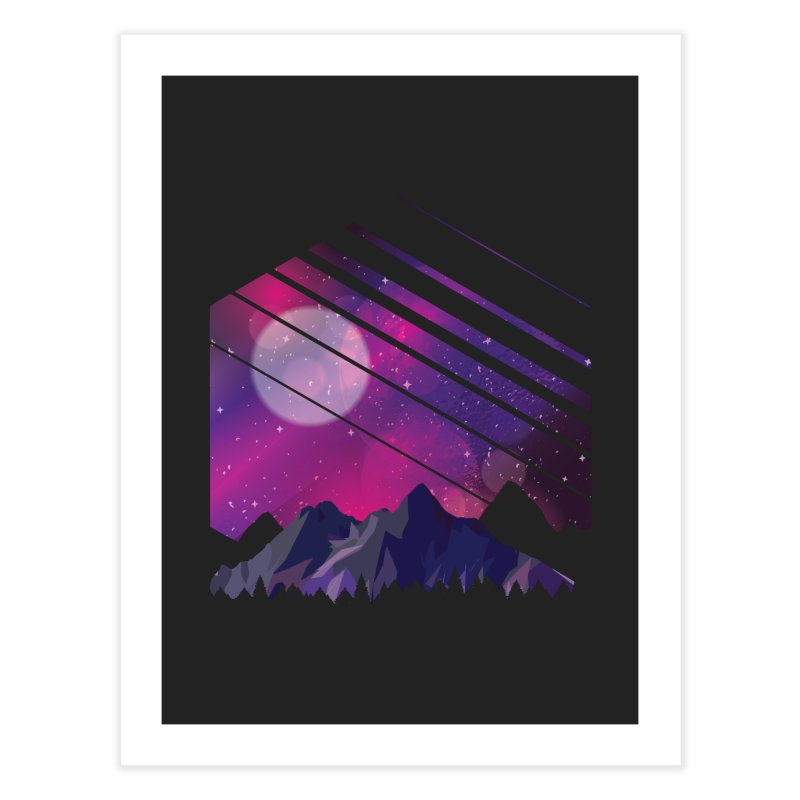 Mountain Galaxy Home Fine Art Print by Toxic Onion