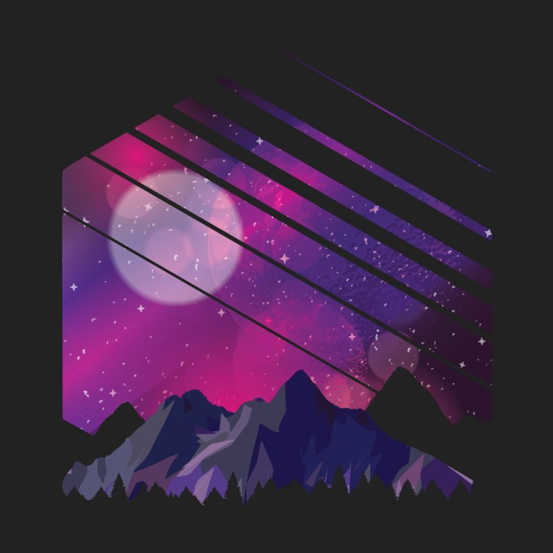 Mountain Galaxy Men's T-Shirt by Toxic Onion - A Popular Ventures Company