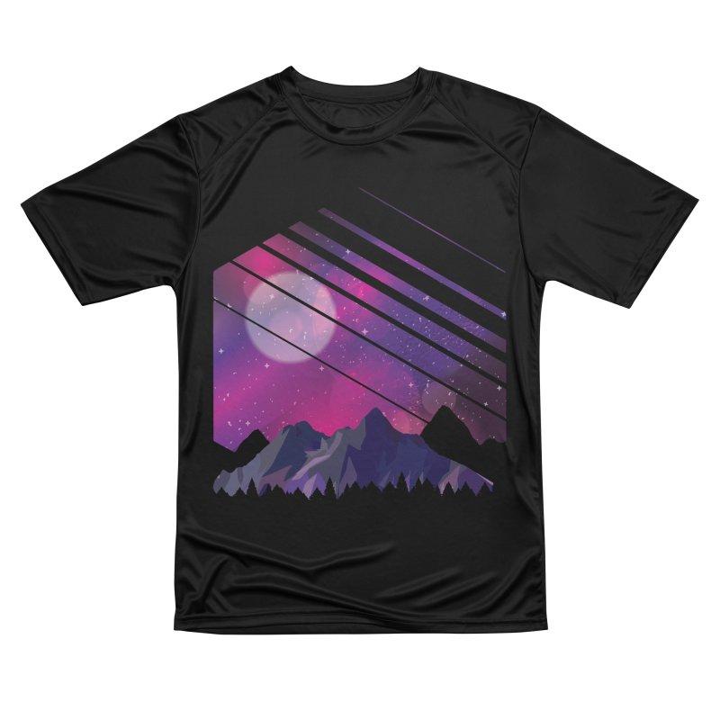 Mountain Galaxy Men's T-Shirt by Toxic Onion
