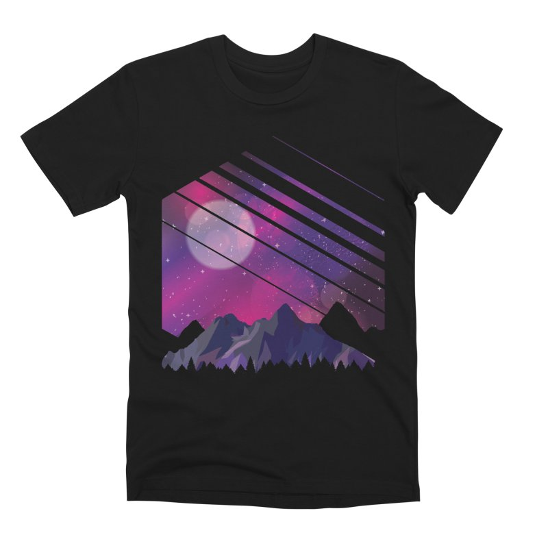 Mountain Galaxy Men's T-Shirt by Toxic Onion - A Popular Ventures Company