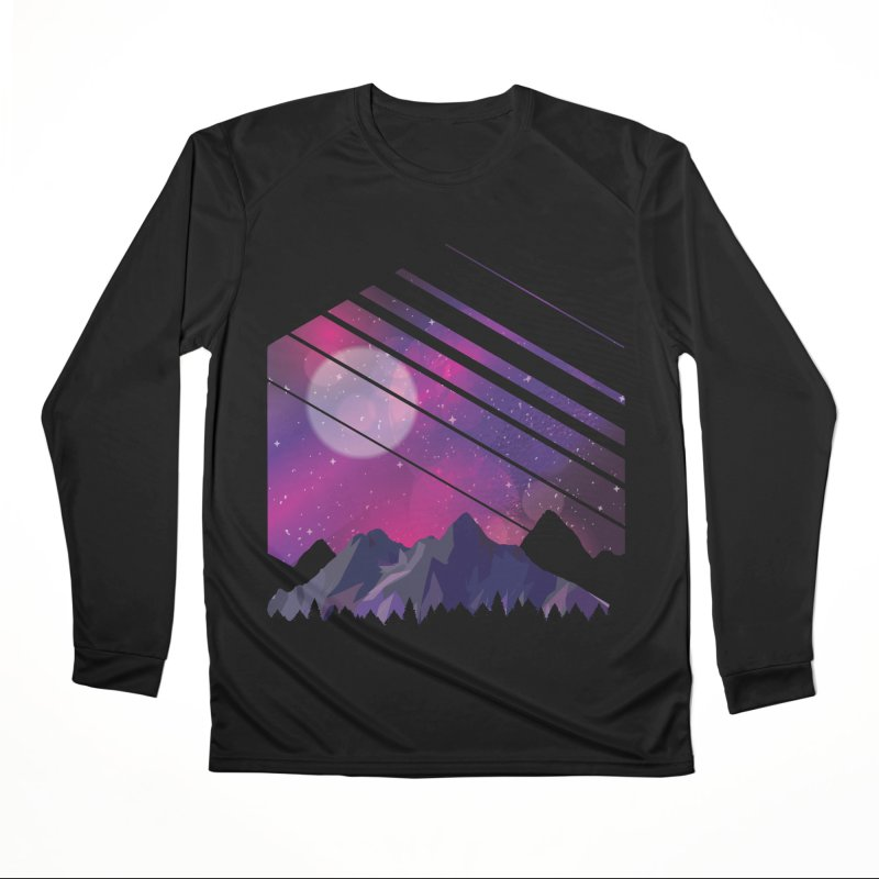 Mountain Galaxy Men's Longsleeve T-Shirt by Toxic Onion
