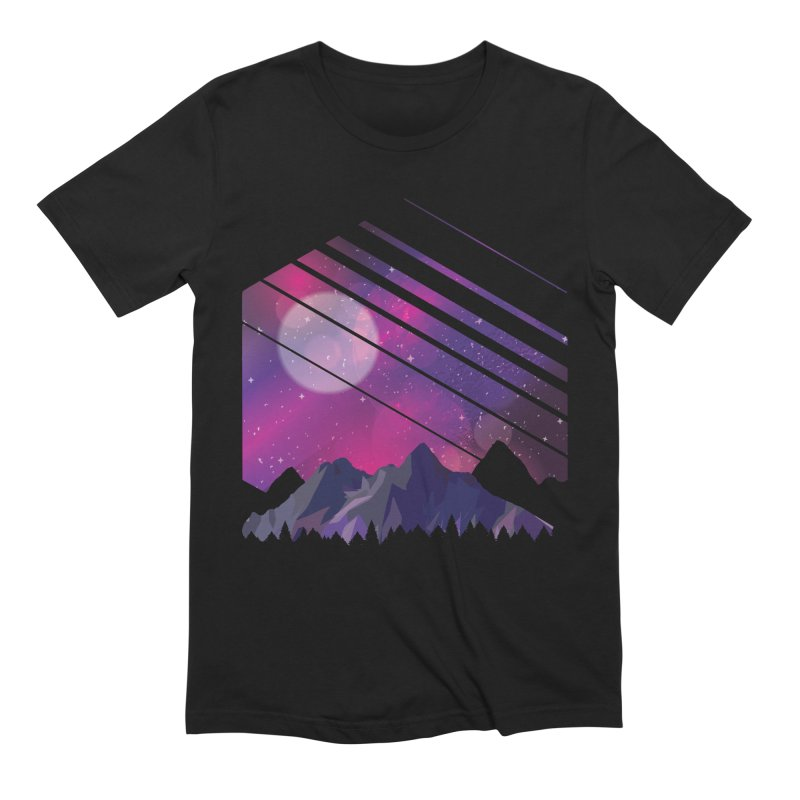 Mountain Galaxy Men's T-Shirt by Toxic Onion