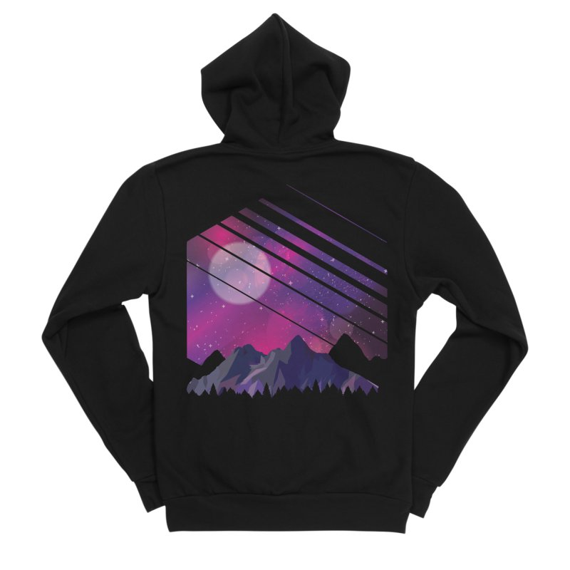 Mountain Galaxy Men's Zip-Up Hoody by Toxic Onion - A Popular Ventures Company