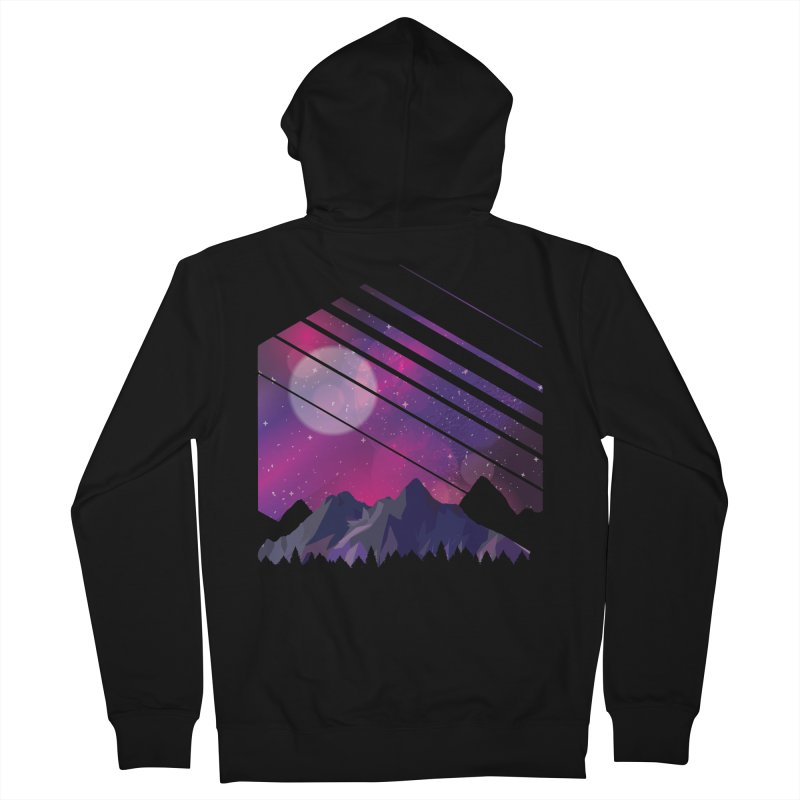 Mountain Galaxy Men's Zip-Up Hoody by Toxic Onion