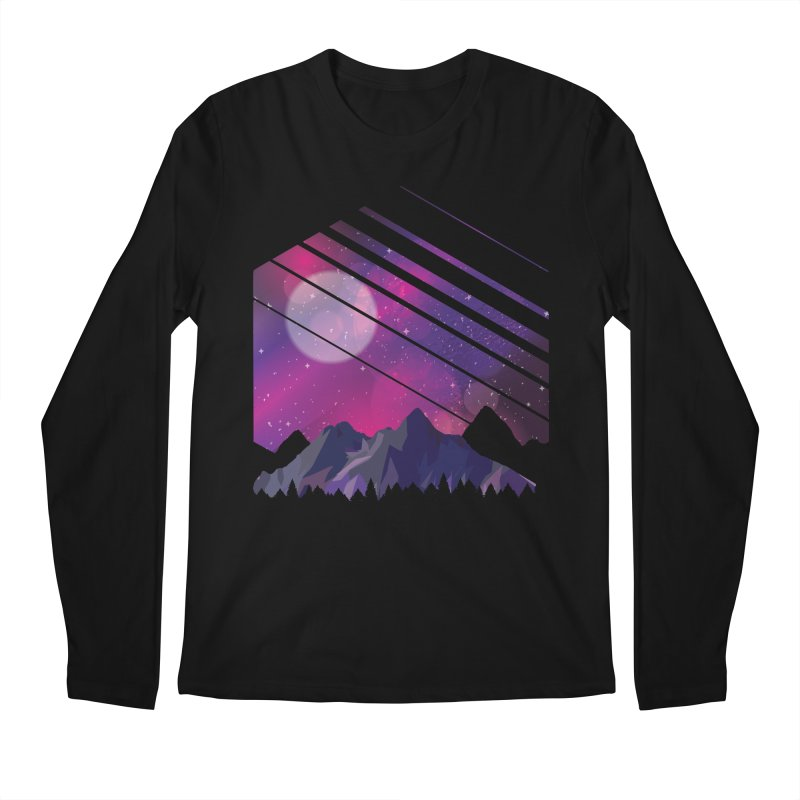 Mountain Galaxy Men's Longsleeve T-Shirt by Toxic Onion