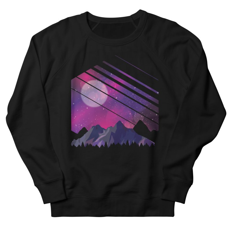 Mountain Galaxy Men's Sweatshirt by Toxic Onion