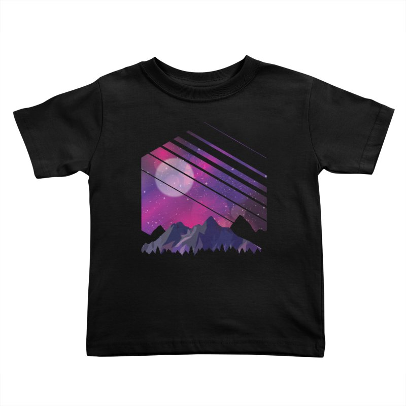 Mountain Galaxy Kids Toddler T-Shirt by Toxic Onion