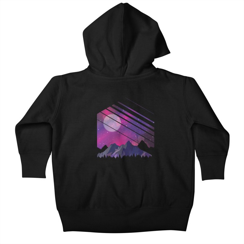 Mountain Galaxy Kids Baby Zip-Up Hoody by Toxic Onion