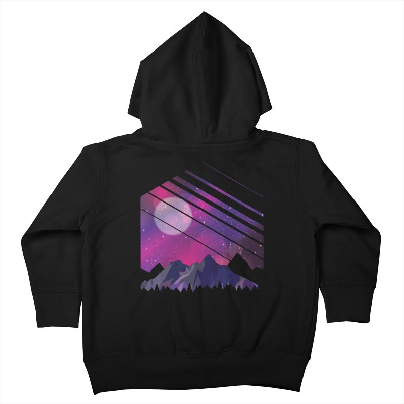 Mountain Galaxy Kids Toddler Zip-Up Hoody by Toxic Onion