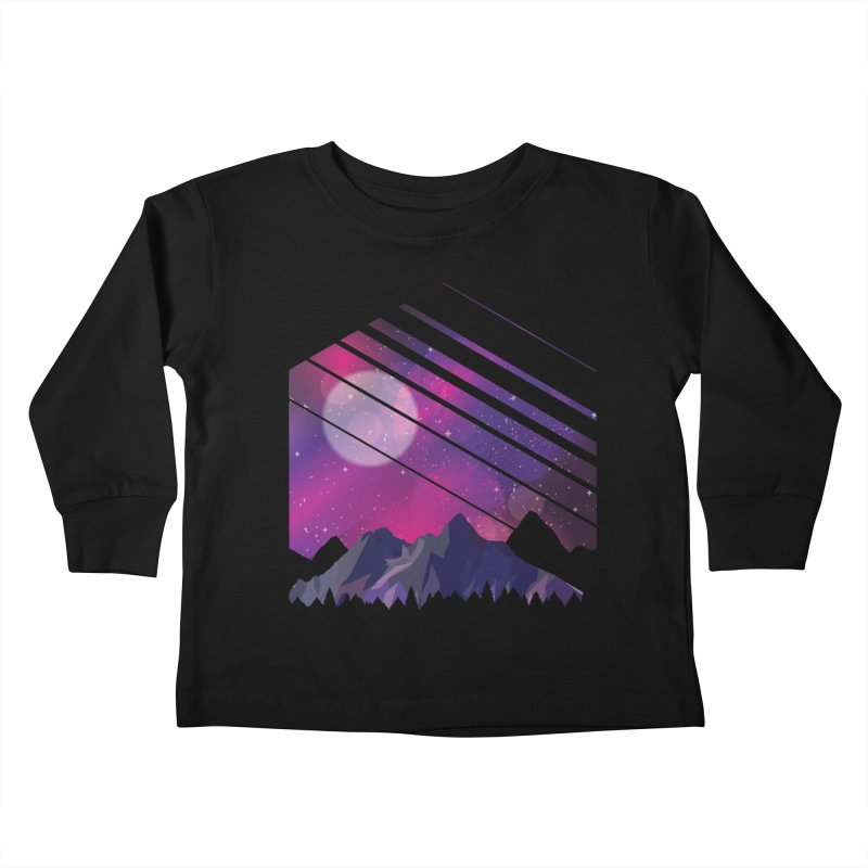 Mountain Galaxy Kids Toddler Longsleeve T-Shirt by Toxic Onion