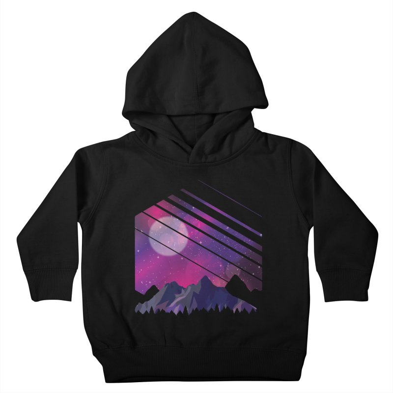 Mountain Galaxy Kids Toddler Pullover Hoody by Toxic Onion