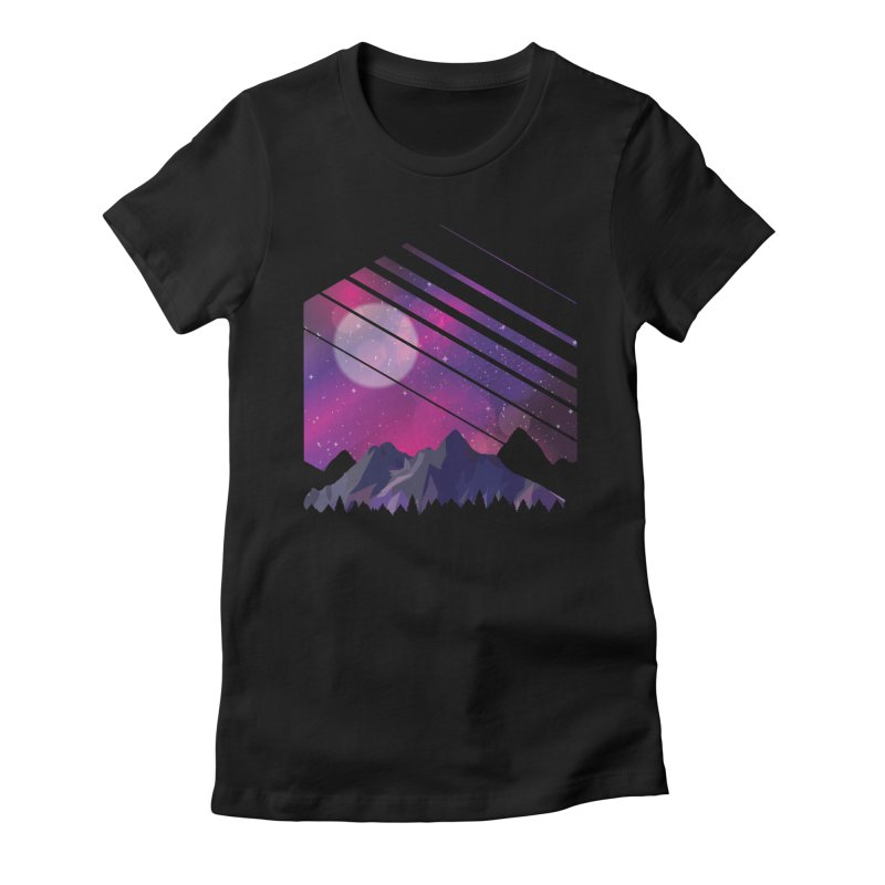 Mountain Galaxy Women's T-Shirt by Toxic Onion