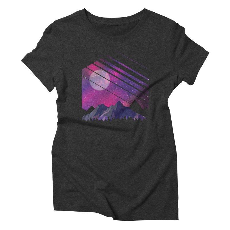 Mountain Galaxy Women's T-Shirt by Toxic Onion