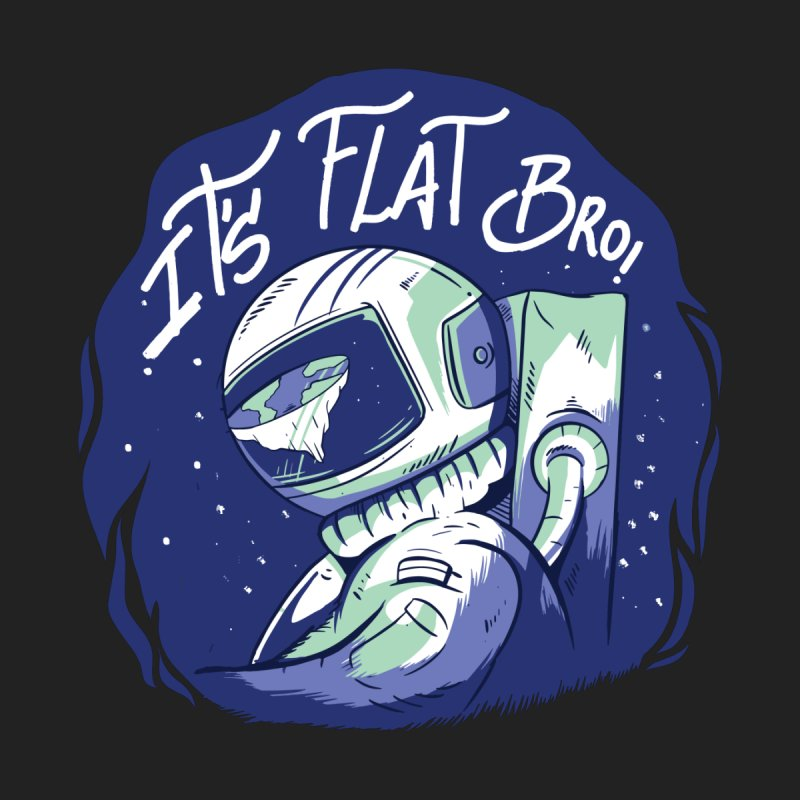 It's Flat Bro Men's V-Neck by Toxic Onion - A Popular Ventures Company