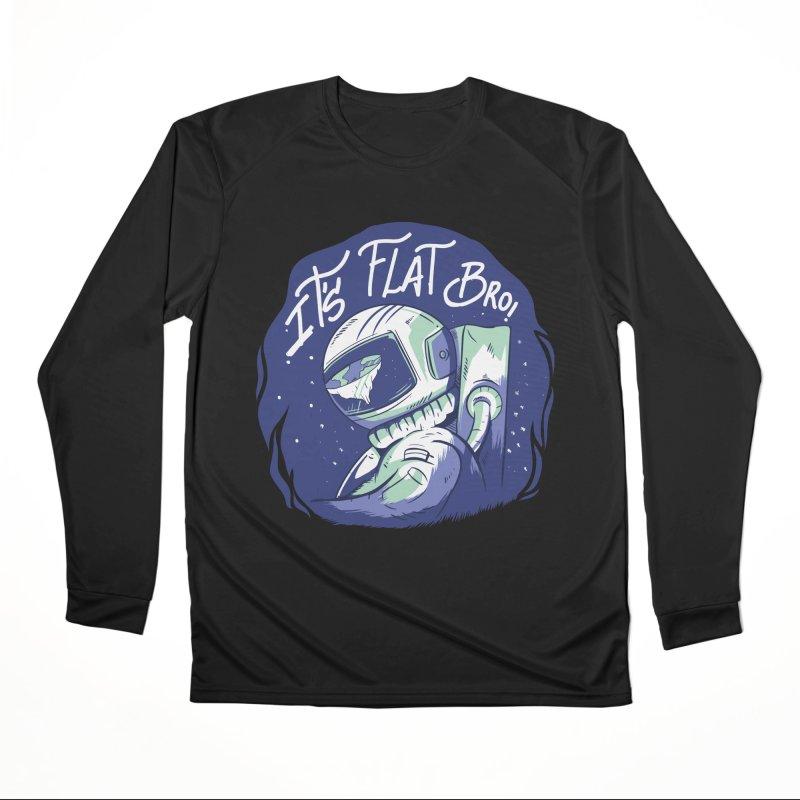 It's Flat Bro Men's Longsleeve T-Shirt by Toxic Onion - A Popular Ventures Company
