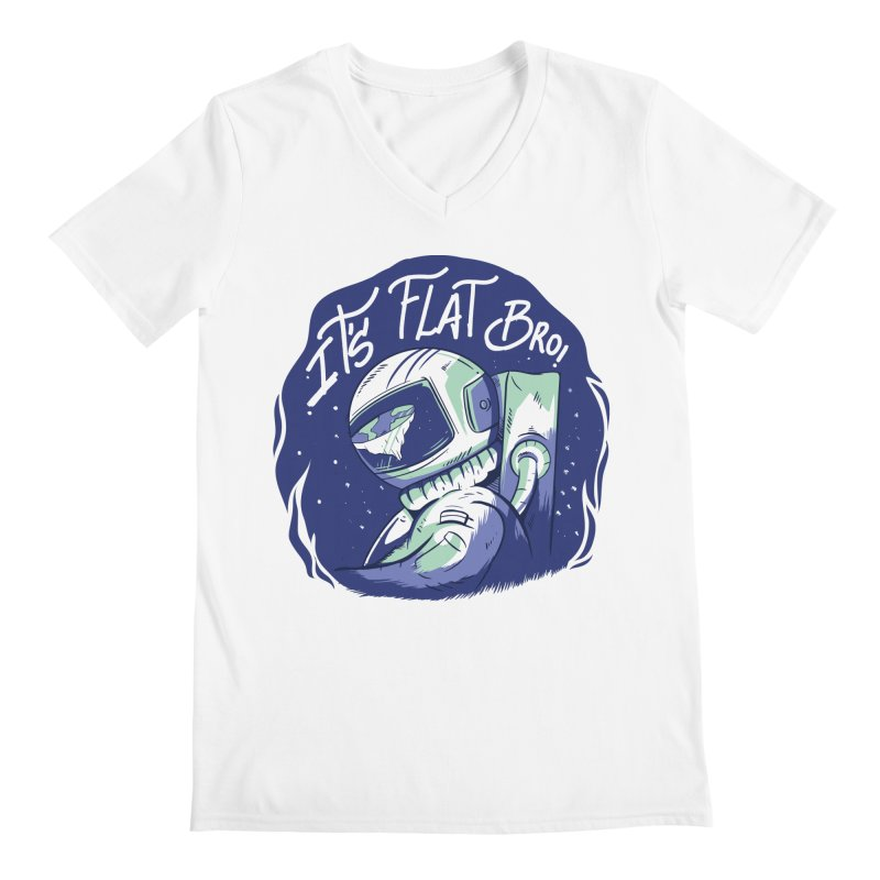 It's Flat Bro Men's V-Neck by Toxic Onion