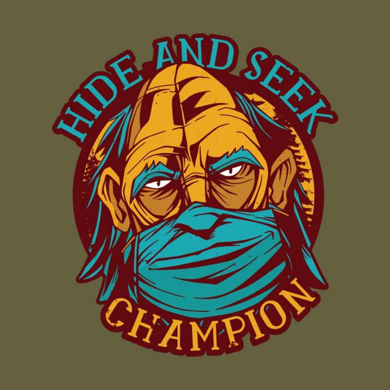 Bigfoot Hide And Seek Champion Men's T-Shirt by Toxic Onion