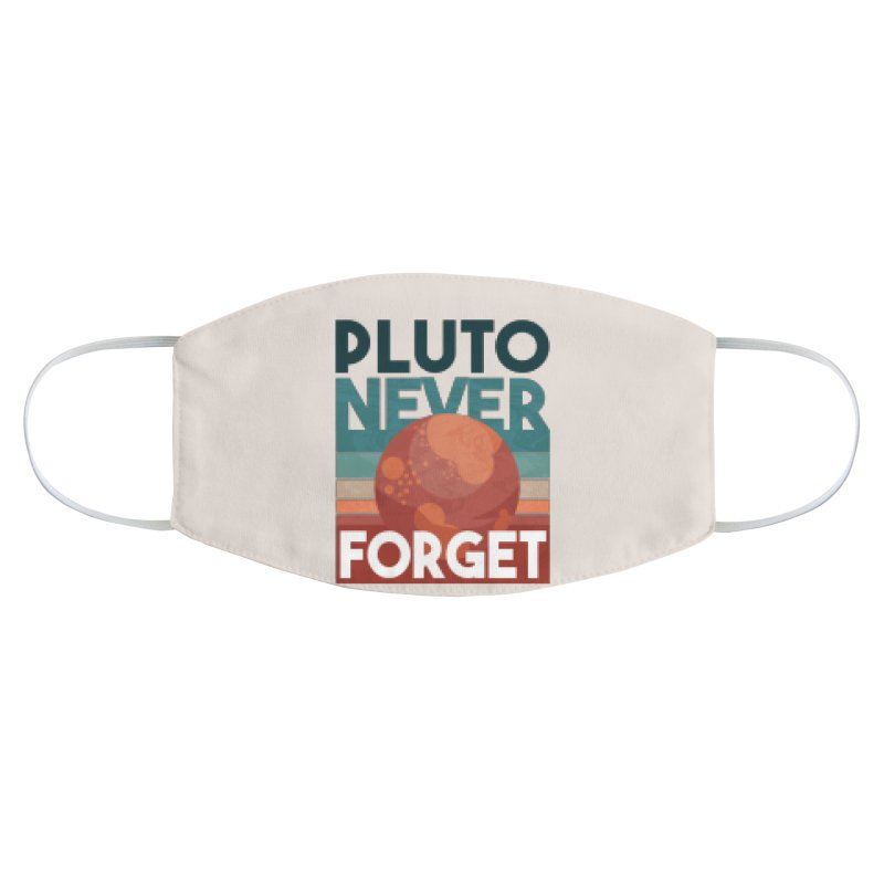 Pluto Never Forget Accessories Face Mask by Toxic Onion