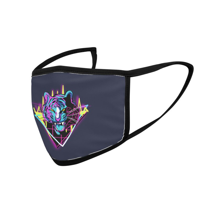 Neon Tiger Accessories Face Mask by Toxic Onion