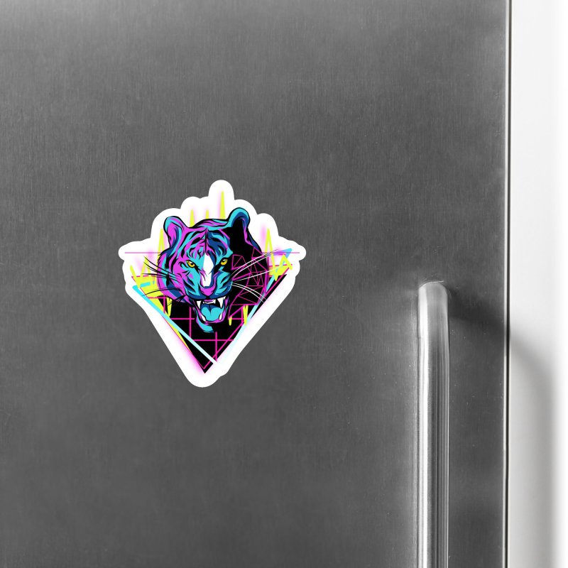 Neon Tiger Accessories Magnet by Toxic Onion
