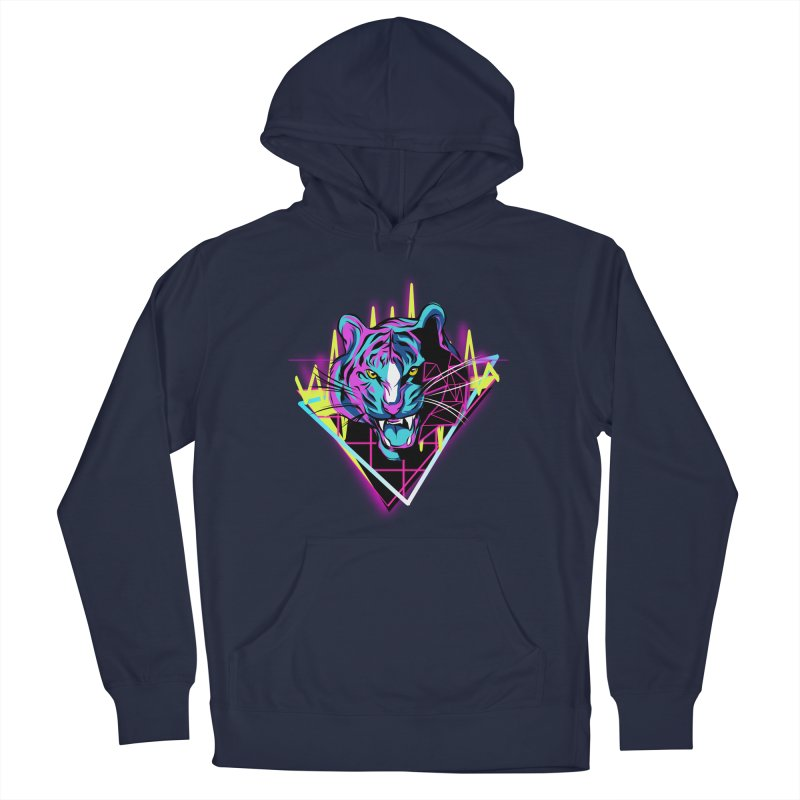 Neon Tiger Men's Pullover Hoody by Toxic Onion