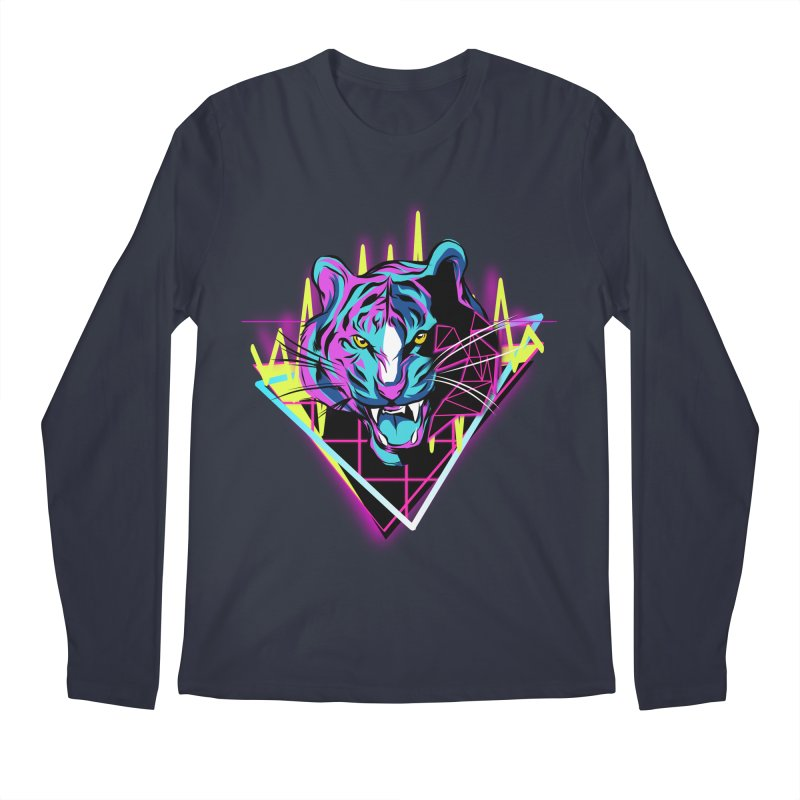 Neon Tiger Men's Longsleeve T-Shirt by Toxic Onion