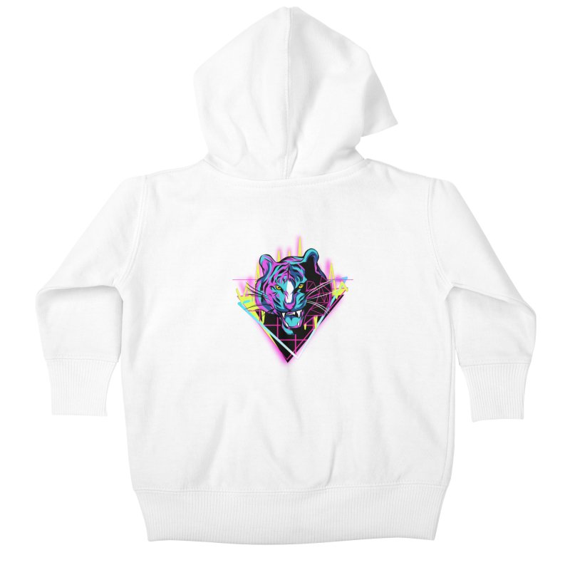 Neon Tiger Kids Baby Zip-Up Hoody by Toxic Onion