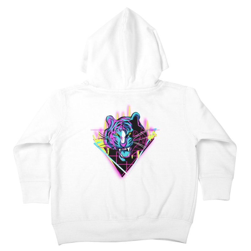 Neon Tiger Kids Toddler Zip-Up Hoody by Toxic Onion