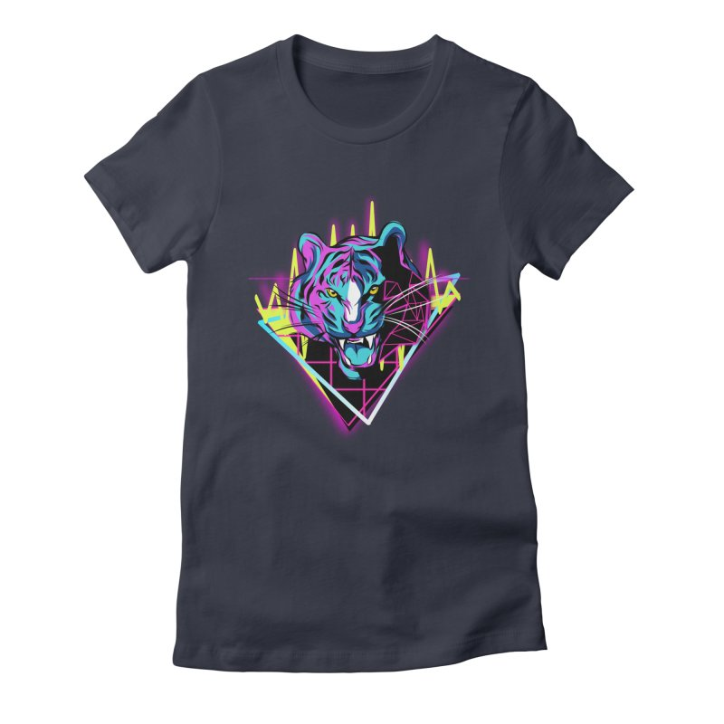 Neon Tiger Women's T-Shirt by Toxic Onion