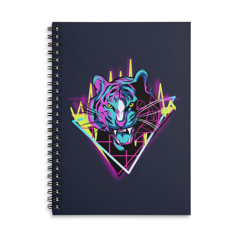 Neon Tiger Accessories Notebook by Toxic Onion - A Popular Ventures Company
