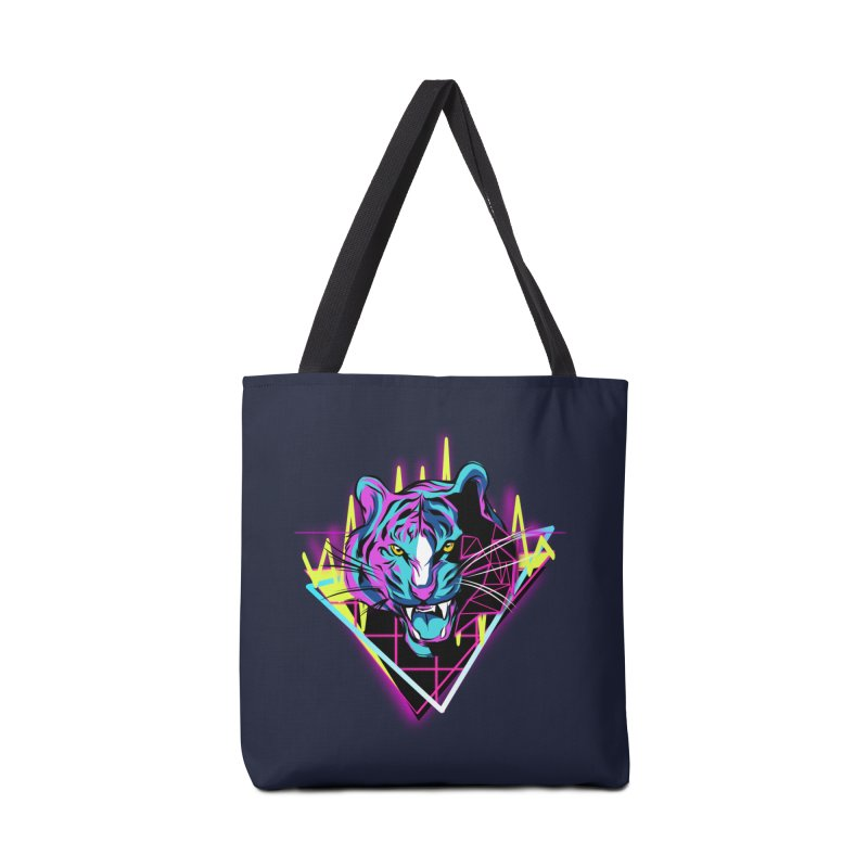 Neon Tiger Accessories Bag by Toxic Onion