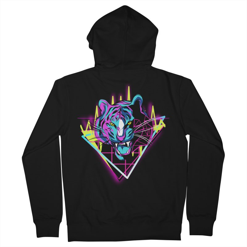 Neon Tiger Men's Zip-Up Hoody by Toxic Onion - A Popular Ventures Company