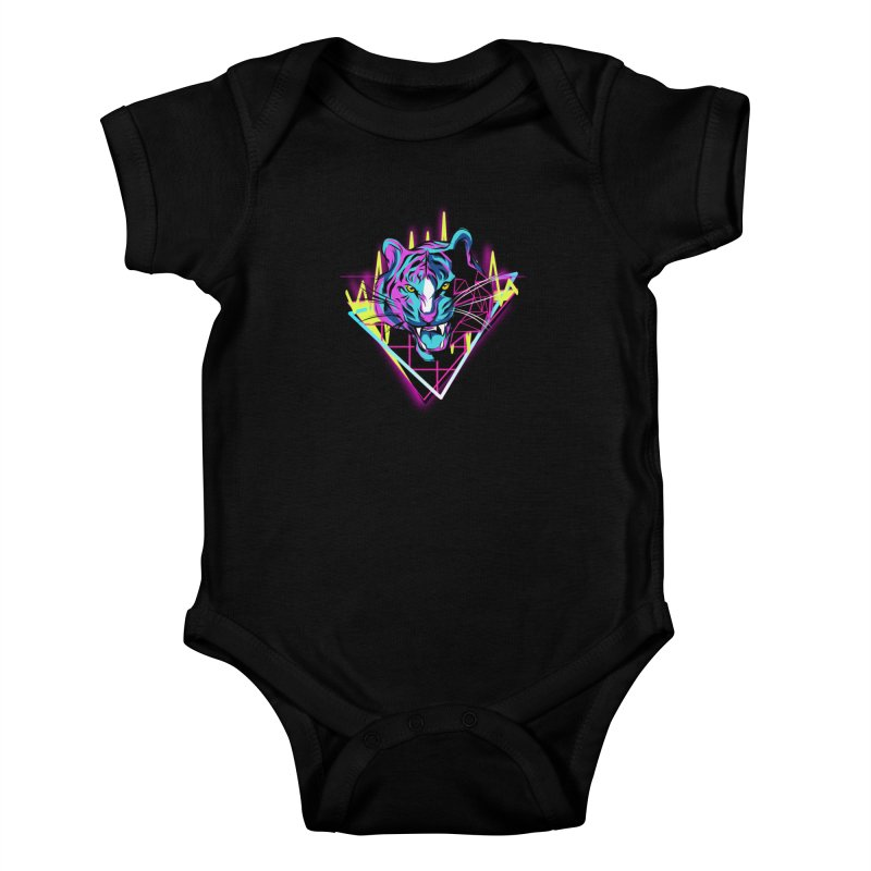 Neon Tiger Kids Baby Bodysuit by Toxic Onion - A Popular Ventures Company