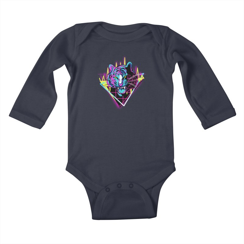 Neon Tiger Kids Baby Longsleeve Bodysuit by Toxic Onion - A Popular Ventures Company