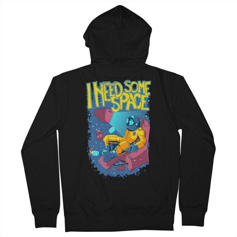 I Need Some Space Men's Zip-Up Hoody by Toxic Onion