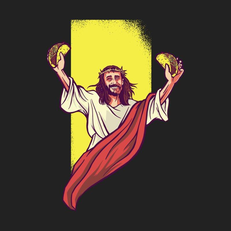 Taco Jesus Men's T-Shirt by Toxic Onion