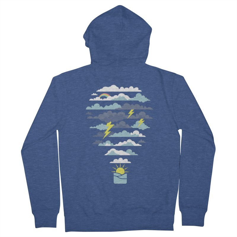 Hot Air Weather Balloon Men's Zip-Up Hoody by Toxic Onion