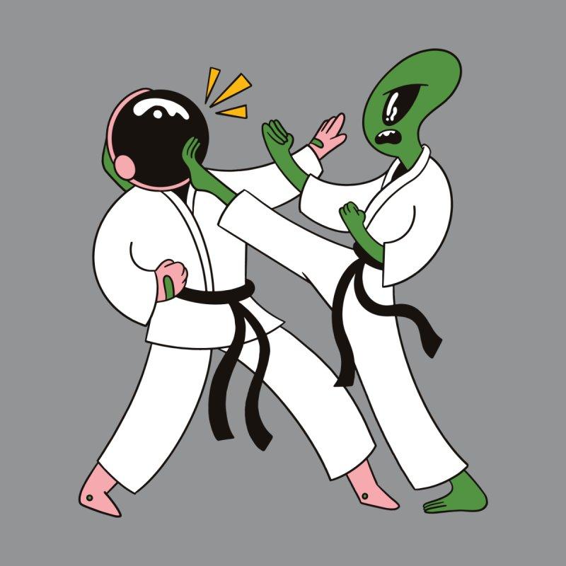 Alien Astronaut Karate Men's T-Shirt by Toxic Onion