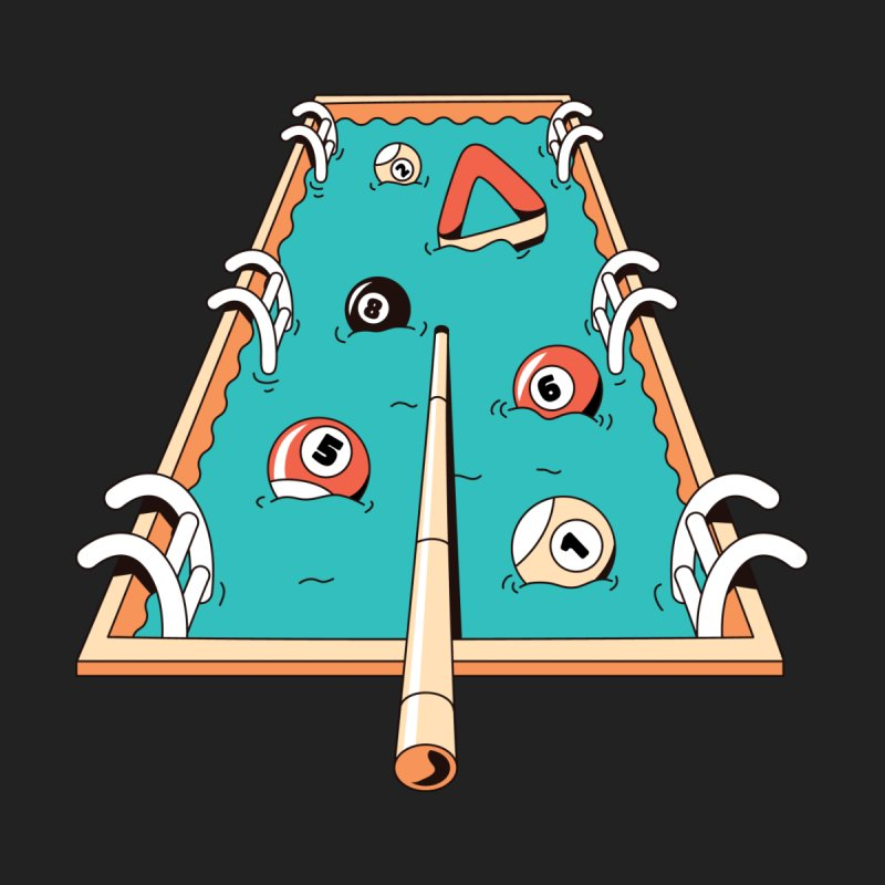 Pool Games Kids Longsleeve T-Shirt by Toxic Onion