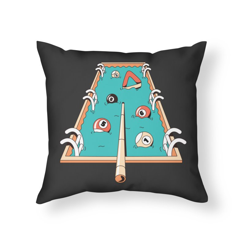 Pool Games Home Throw Pillow by Toxic Onion